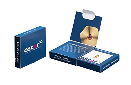 Oscar3D Buse d\'appui [ECO/ShortStroke] – Ruby Nozzle E3Dv6 Design FDM *Fabriqué en Allemagne * (filament 2,85 mm / buse Ø 0,8 mm)
