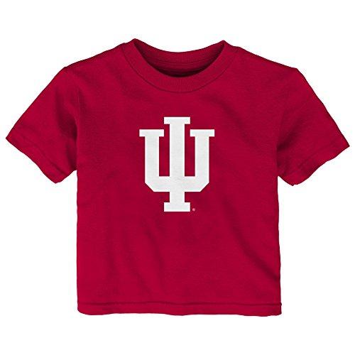 Gen 2 NCAA Indiana Hoosiers Infant Primary Logo Short Sleeve Tee, 18 Months, Dark Red