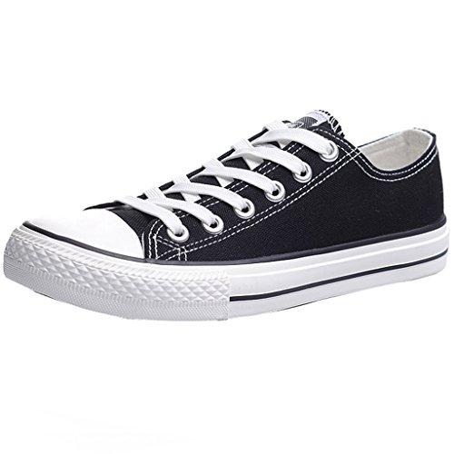 Size scarpe da casual uomo uomo Scarpe stile Black tendenza basse 46 scarpe di scarpe YaNanHome casual Black da traspiranti in tela Scarpe uomo Color Espadrillas da wg7nxTAHq