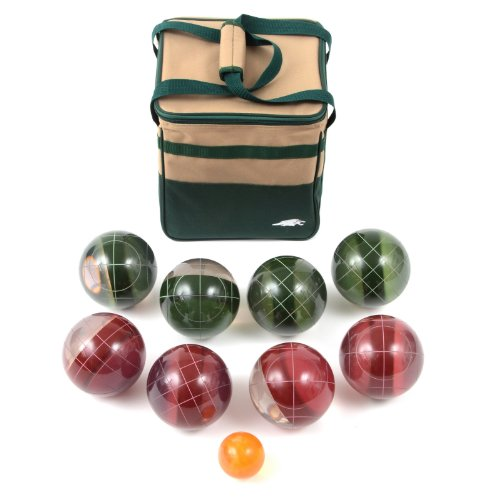 Lion Sports Clear 107 MM Tournament Resin Bocce Set in PVC Carry Bag by Lion Sports