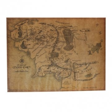 UR Home Decor The Lord Of The Ring Middle Earth Map Retro Kraft Paper Poster