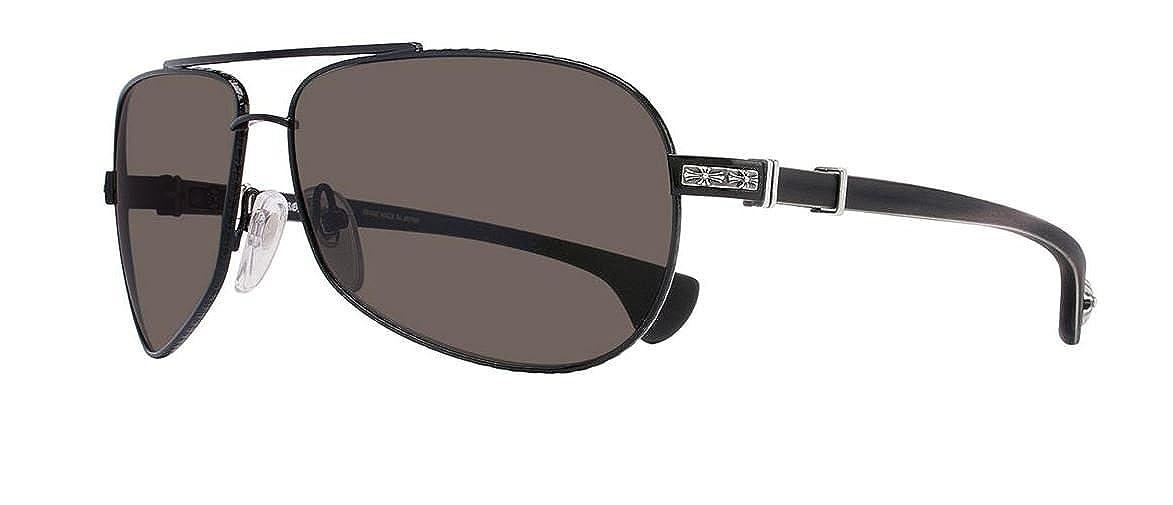 900175f4fb34 Amazon.com  Chrome Hearts - Grand Beast - Sunglasses (Matte Black-Ebony  Wood