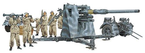 プラッツ 1/35 第二次世界大戦 ドイツ軍 88mm砲 Flak36 w/高射砲兵 (冬季装備) プラモデル DR6260 完成品