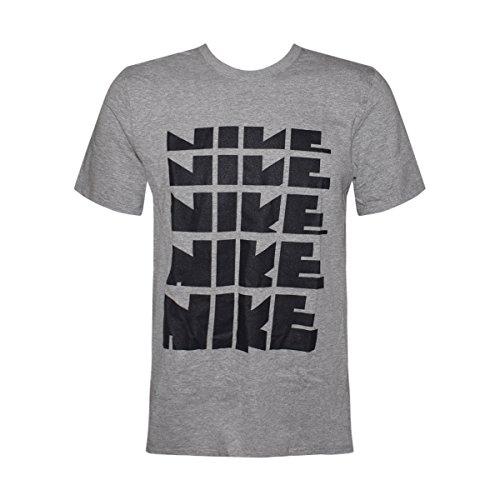 Nike Männer Nike läuft dieses Grafik T-Shirt Nike Retro Buchstaben / Grau
