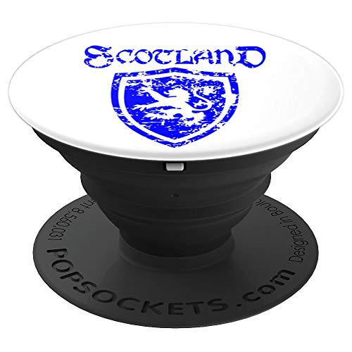 (Lion Rampant of Scotland in Scottish shield. Scots Popsocket - PopSockets Grip and Stand for Phones and Tablets)
