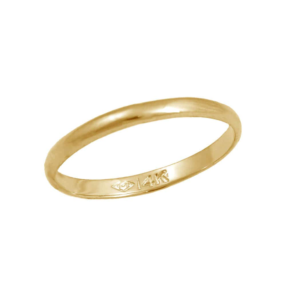 Baby Jewelry - 14K Yellow Gold First Band Ring (Size 1)