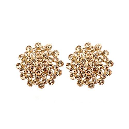 Triveni plaqué or floral en forme de boucles d'oreilles E5