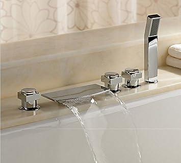 Amazon.com: Moderno Placa de cerámica Spool 5pcs tina cuenca ...