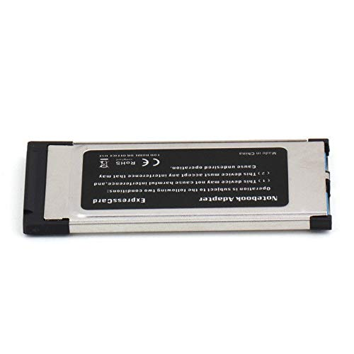 2 Port USB 3.0 to Express Card ExpressCard 34mm Adapter Hidden for Laptop
