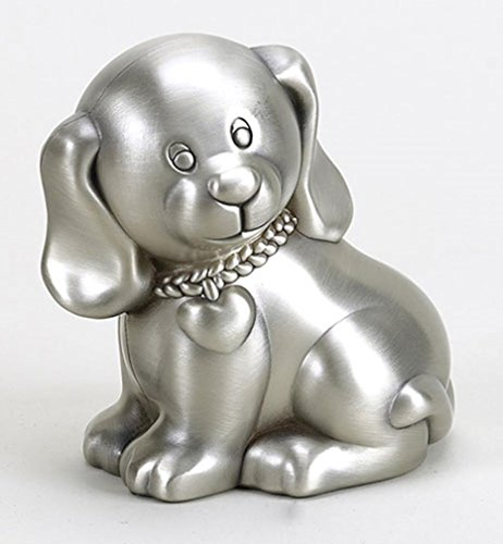 Puppy Bank - Creative Gifts International Puppy Bank, Silver