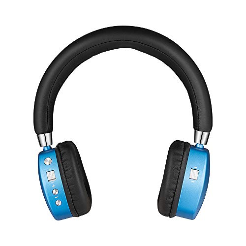 Puro Sound Labs PuroQuiet Kids Volume-Limiting Noise-Cancelling On-Ear Wireless Headphones (Blue) ()
