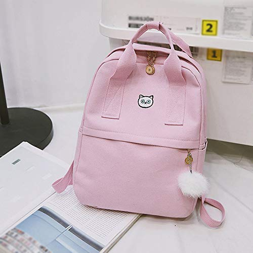 Amazon.com   Clearance ❤ Women Bag JJLIKER Hairball Canvas Satchel Travel Student Backpack   Kids Backpacks
