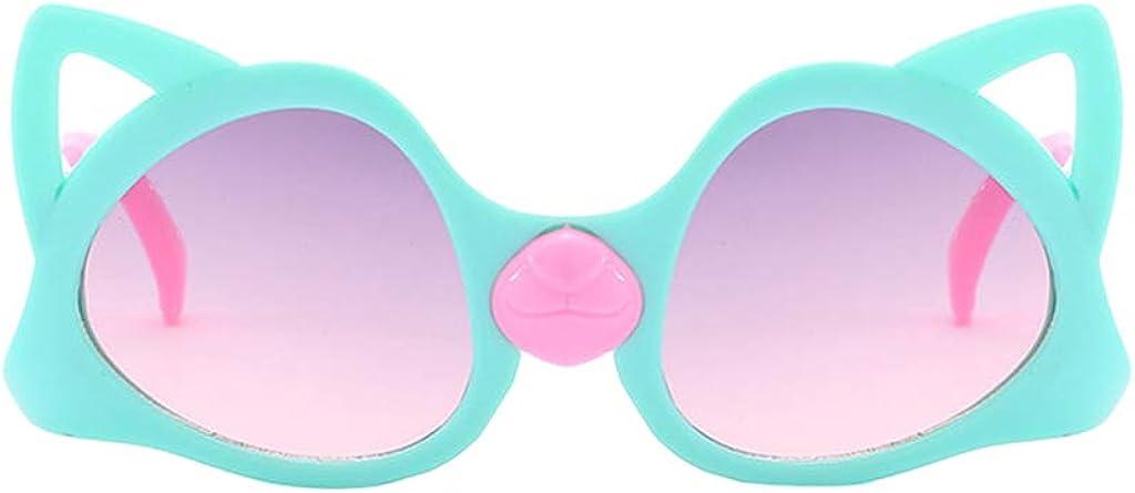 KUDICO Unisex Kinder Sonnenbrille Katzenaugen Mirrored Flach Linsen reflektierenden Spiegel UV400 Schutz Brillen Schutz vor Radioaktivit/ät