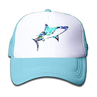 Camo Shark Funny Boys Mesh Hat Baseball Caps Adjustable Trucker Cap