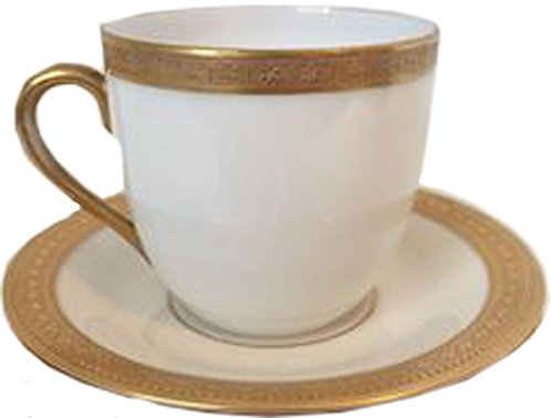 Syracuse - Bracelet Gold - Demitasse/Expressa Cup & (Syracuse Bone China Plates)