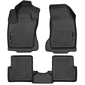 Husky Liners 99081 Fits 2015-20 Jeep Renegade Weatherbeater Front & 2nd Seat Floor Mats , Black