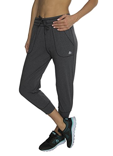 RBX Active womens Cotton Jogger Pant,Charcoal,Medium (Mustache Pantyhose)
