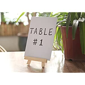 Juvale 6 Mini Easels - Natural Wood Decorative Display Table Setting Place Card Holder - 7 inch