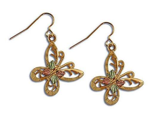 Landstroms 10k Black Hills Gold Butterfly Earrings - ER1023 (Black Hills Gold Butterfly Earrings)