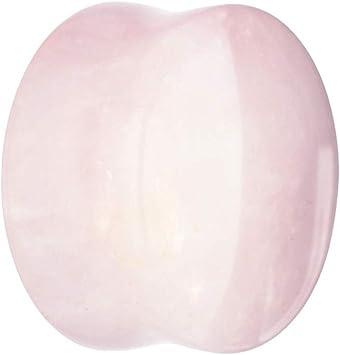 treu Held® | Piedra de oído Plug Rosas Cuarzo – Color Rosa – 11 ...