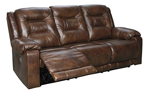Signature Design by Ashley Golstone Power Reclining Sofa, Canyon