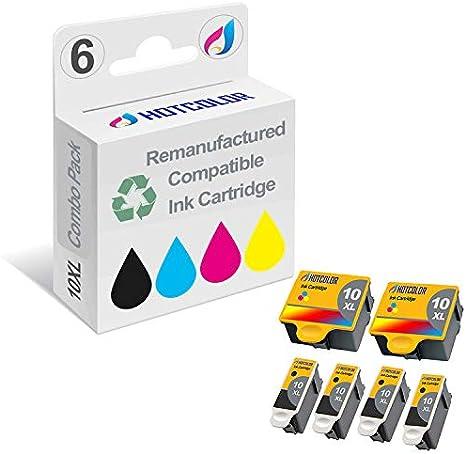 Amazon.com: hotcolor alta compatible para Kodak 10B Negro ...
