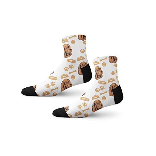 Funny Mens Socks Sussex Spaniel Dog Polyester Crazy Socks Womens 1