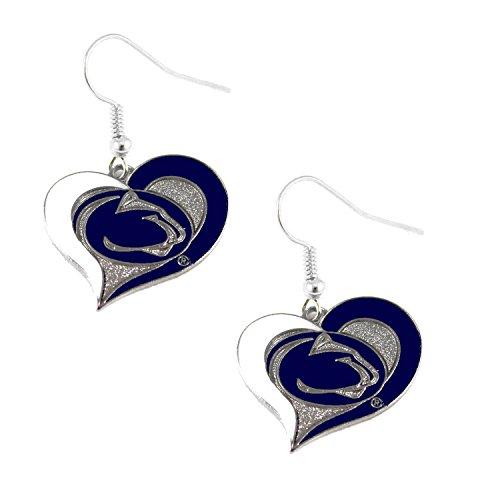 (NCAA Penn State Nittany Lions Swirl Heart Earrings)