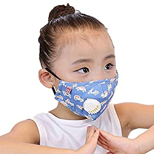 Luwsldirr PM2.5 Children Anti Haze Air Breather Cartoon Mouth Replacement Filter