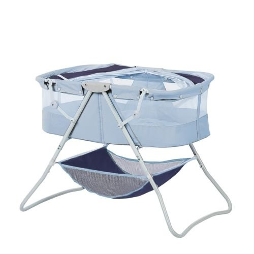 Newborn Dual Canopy Traveler Portable Bassinet Navy by Nikkycozie (Image #4)
