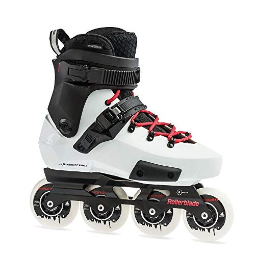 Rollerblade Twister Edge X Unisex Adult Fitness Inline Skate, Black and White,Premium Inline Skates, US Size 9.5
