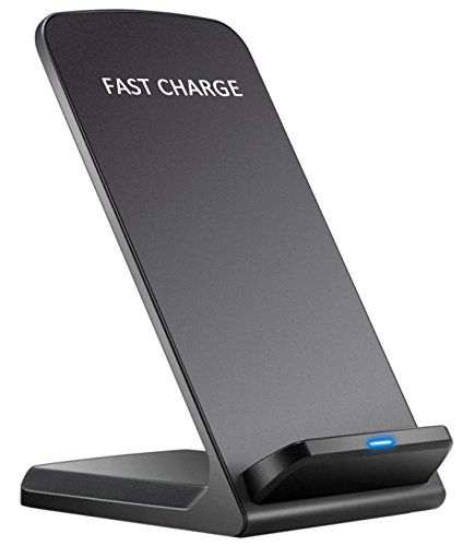 Comsoon iPhone X Wireless Charger, Wireless Charging Pad for iPhone X/ 8/ 8 Plus & all Qi Enabled Devices, Fast Charging for Samsung Galaxy S8/ S8+/ S7/ S7 edge /S6 edge+/ Note 5/ Note 8