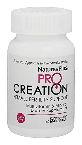 Natures Plus Procreation Women - 60 Vegetarian Capsules - Natural Female Fertility Support, Multivitamin & Mineral Supplement with Antioxidants, Herbal Blend - Gluten Free - 30 Servings