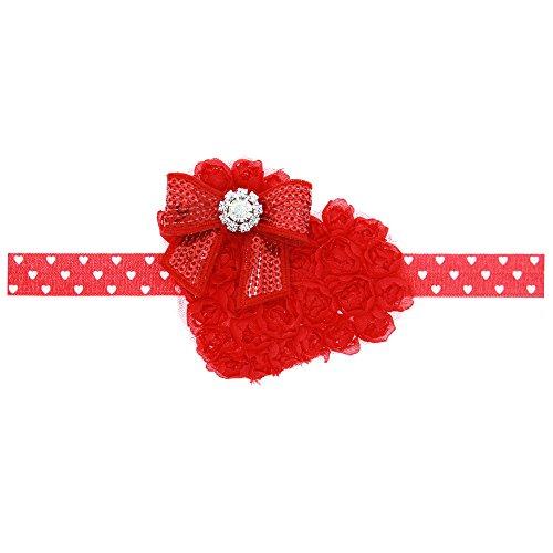 Floral Fall Valentines Rhinestone Headbands product image