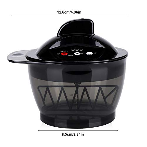 Electric Hairdressing Mixing Bowl, USB Rechargeable LCD Time Display Electric Hair Cream Automatic Mixer Hair Color Mixing Bowl, Hair Salon Coloring Bowl DIY Tools by Yosooo (Image #1)