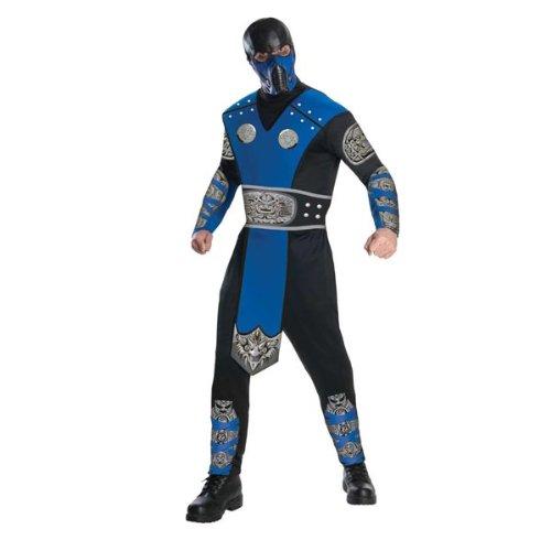 [Mortal Kombat Sub-Zero Costume for Adults MEDIUM] (Sub Zero Costumes)