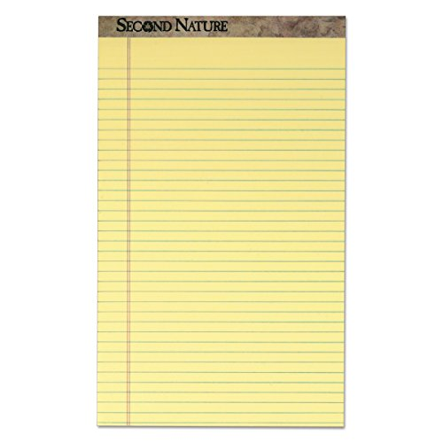 - TOPS 74920 Second Nature Recycled Pads, 8 1/2 x 14, Canary, 50 Sheets (Pack of 12)