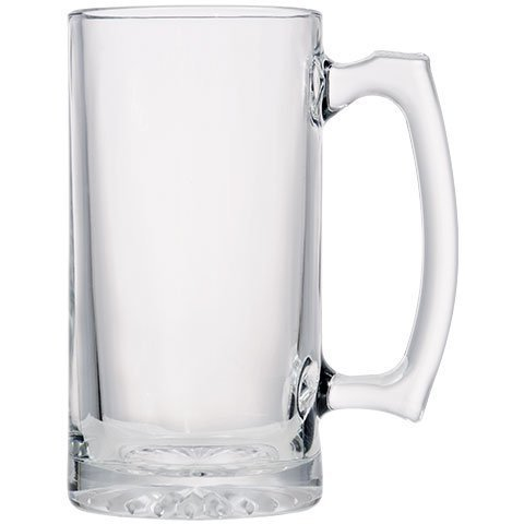 - 26 oz Jumbo Thick Glass Sports Beer Mugs