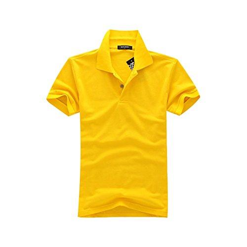 メンズ ポロシャツ 半袖 Tシャツ2018新入荷カジュアル 紳士ポーツゴルフ刺繍無地 シャツ ゆったり リラックス 着やすい すぐ着れる らく 気持ち良い 8カラー