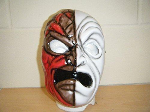 Hollywood Devil Costumes (WRESTLING MASKS UK Men's Da Kurlz Stag Do Costume Wrestling Mask Accessories One Size Multicoloured)