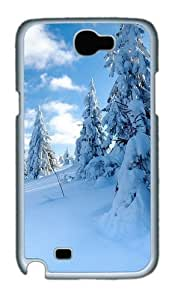 Snow Custom Designer Samsung Galaxy Note 2/Note II / N7100 Case Cover - Polycarbonate - White
