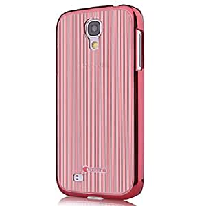 LZX Minimalist Solid Color PU Leather Full Body Case for Samsung Galaxy S4 Gt-I9500/I9505(Comma-05) , Pink