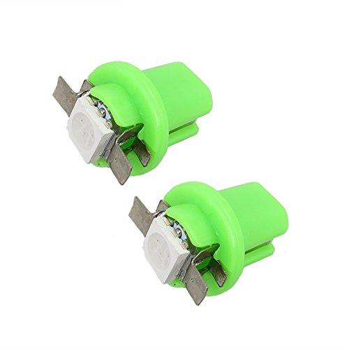 WLJH 6pcs T5 B8.5D LED Light Bulb 5050SMD Automotive Instrumnet Panel Dashboard Dash Gauge Cluster Light,Green
