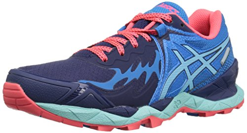 ASICS Women's Gel-FujiEndurance Trail Runner, Indigo Blue/Aqua Splash/Diva Blue, 9 M US by ASICS