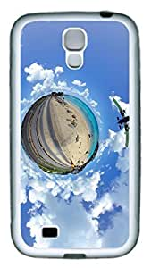 Brian114 Samsung Galaxy S4 Case, S4 Case - Slim Ultra Fit Soft Rubber Case for Samsung Galaxy S4 I9500 Little Caribbean Planet Popular Design White Back Cover for Samsung Galaxy S4 I9500