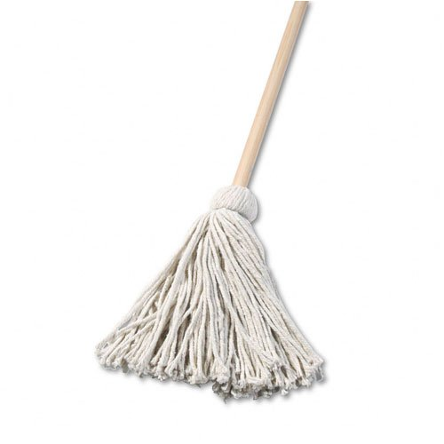 unisan-deck-mop-with-48-wooden-handle-16-oz-cotton-fiber-head-sold-as-2-packs-of-1-total-of-2-each