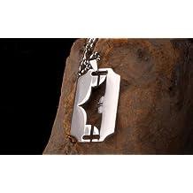 Cyqun(TM) Newest Batman Titanium Dogtag Necklace-Titanium Steel