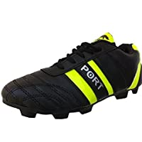ARYANS Women's Sprnt Black Green Pure Later Football Stud