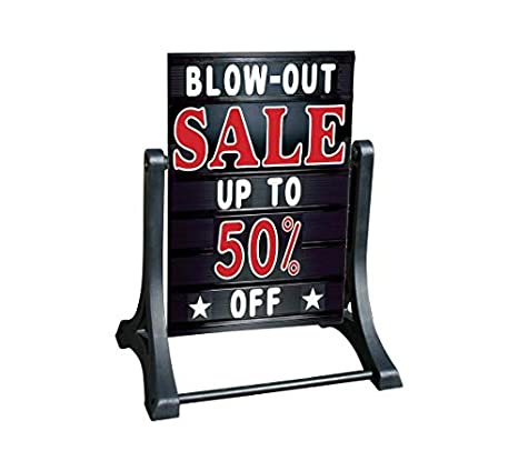 Changeable Letter Outdoor Curb Sign 24 X 36 A-Frame Changing Message Sidewalk Sign with Letter Kit Swinger Deluxe Message Board Black