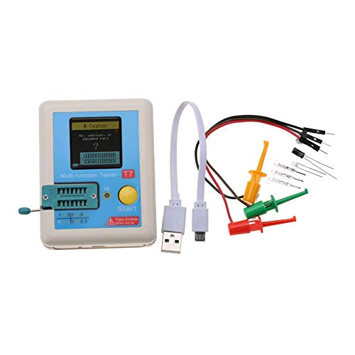 トランジスタテスター、3.7V多機能自動TFTトランジスタテスターフルカラーグラフィックディスプレイテスト、三極管ダイオード抵抗器コンデンサーインダクター